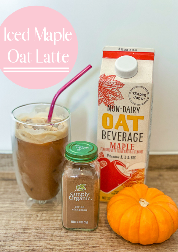 3 Ingredient | Iced Maple Oat Latte