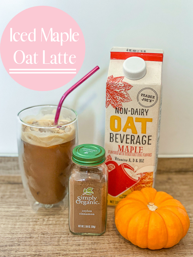 iced maple oat latte